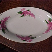 REDUCED Pretty Vintage Japan Dish With Lilacs