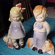 "Pair of ""ELSA"" Art Pottery Figures"
