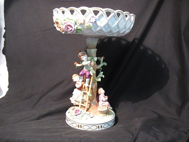 "Scherholtz Dresden Compote-/Centerpiece-""Apple Children"""