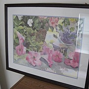 REDUCED Framed Floral Print