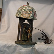 REDUCED Austrian Polychrome Arab Motif Lamp