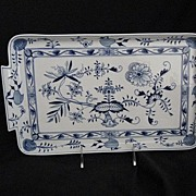 SOLD German Meissen Serving/Dresser Tray-Onion Pattern