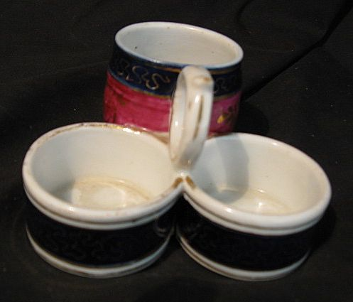 Porcelain 3 Compartment Condiment Server