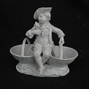 REDUCED Meissen Porcelain Boy With Baskets