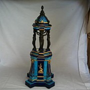 French Porcelain/Bronze Columnar Centerpiece