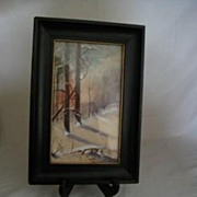 REDUCED Framed Water Color-Signed