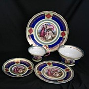 REDUCED European Porcelain 14 Piece Dessert Set