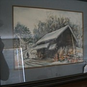 REDUCED Water Color-Framed-Listed American Artist