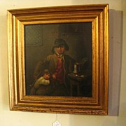 REDUCED Pair Antique European Paintings