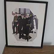 REDUCED U.S.Navy Uniform Print