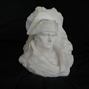 REDUCED European Marble Bust Of Napoleon