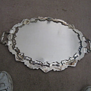 REDUCED American Silver Plated Large Fancy Tray