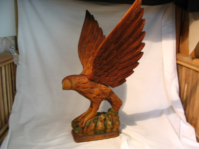 Hand Carved Wood Eagle