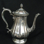 SALE Gorham Victorian Silver Plate Coffee Pot