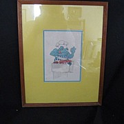SALE Framed Print Of Culinary Frog