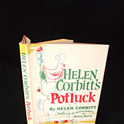 SOLD Helen Corbitts's Potluck Vintage hardback with DJ - Red Tag Sale Item