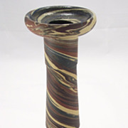 SOLD Pottery Niloak Mission Swirl Early Candlestick 1910-24