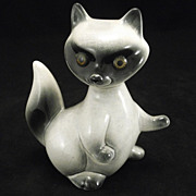 Roselane California Mama Raccoon Figural Sparkler USA Art pottery Vintage Cutie A Perfect Gift