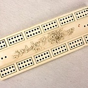 Antique Japanese Ivory Cribbage Board