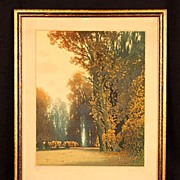 Paris Lithograph Pencil Signed Famous French Artist