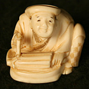 Antique Japanese Hand Carved Netsuke Sculptor