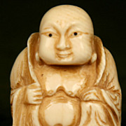 Antique Chinese Hand Carved Ivory Buddha
