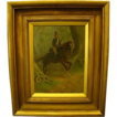 British soldier on horseback oil painting Granville Baker
