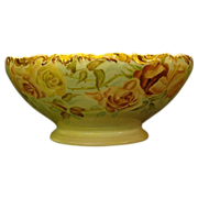 SALE Limoges hand painted roses punch bowl T&V