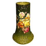 Royal Bonn huge hand painted roses porcelain vase