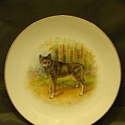 SALE Dresden Fraureuth hand painted porcelain dog plate German Shepherd