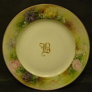 Rosenthal hand painted chrysanthemum large charger