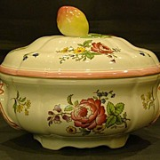 Spode China Marlborough Sprays round covered vegetable bowl