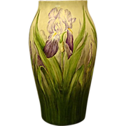 "Limoges T&V huge 15"" hand painted iris vase stunning"