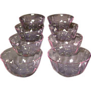 Moser Alexandrite set of eight signed fingerbowls