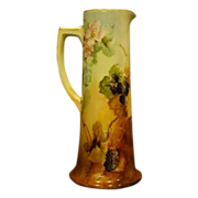 Vienna Austria tall hand painted blackberry tankard