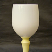 Sevres white opaline yellow water goblet