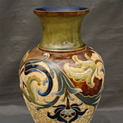 Doulton Lambeth large art nouveau pottery vase