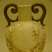 Royal Worcester beaded two handle porcelain vase