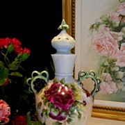 Awesome, Rare, Limoges Covered Urn/Vase; Roses, Lid, Handpainted