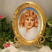 Vibrant & Lovely Framed Plaque; Portrait of a Young Lady