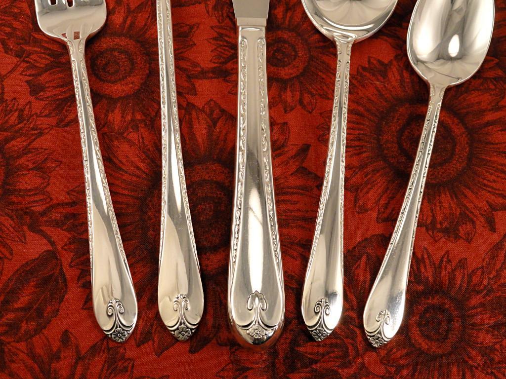 rogers exquisite vintage 1940 art deco silver plate