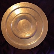 SALE 1950's Lehman Hand Forged Aluminum LARGE Serving Tray
