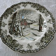 "SALE Vintage Friendly Village 6 1/4"" Bread and Butter Plate Johnson Brothers"