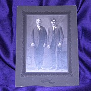 SALE Antique Cabinet Photograph Father and Son Early 1900's SteckBauer Calumet, MI