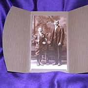 SALE Antique Photograph Father and Son Early 1900's SteckBauer Calumet, MI