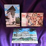 SALE 3 Vintage Frankenmuth Postcards 1969 Bronners, Glockenspiel Tower, Zehnders
