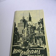 1973 New Orleans Tourist Map And Guide