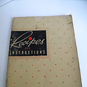 1940's Electromaster Instructions and Recipe Book