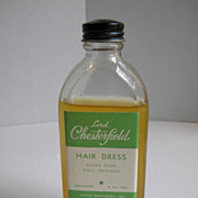 1940's Lord Chesterfield Hair Dressing Lotion - Glass Bottle