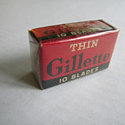 Vintage 1930�s Gillette Thin Blades  Box
